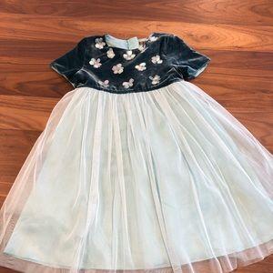 NWT Size 6-7 I Love Gorgeous Teal Chiffon Dress